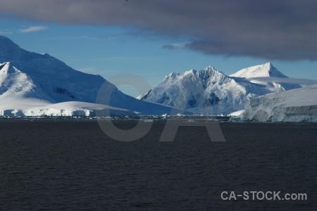 Mountain south pole sea landscape snowcap.