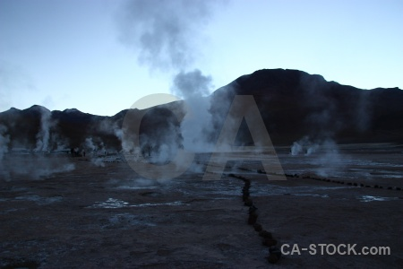 Mountain steam chile andes sky.