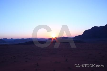 Mountain sunset desert asia jordan.