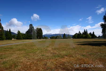 Mountain te anau field new zealand south island.