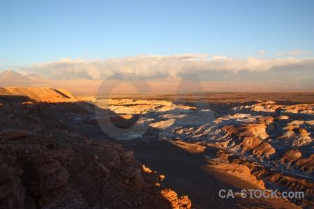 Mountain valle de la luna desert salt volcano.