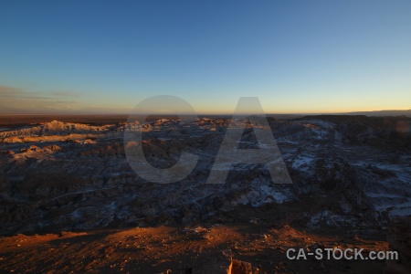 Mountain valley of the moon landscape sky atacama desert.