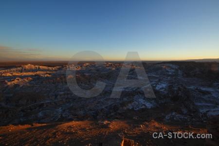 Mountain valley of the moon landscape sky atacama desert.