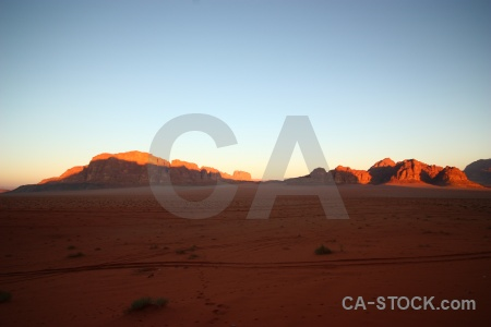 Mountain wadi rum sky landscape middle east.