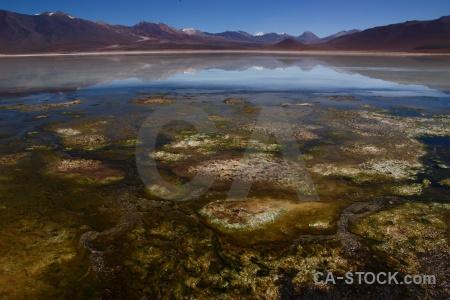 Mountain water andes laguna blanca altitude.