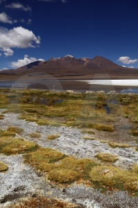 Mountain water lake altitude south america.