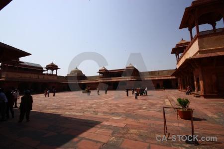 Mughal fort unesco sky courtyard.