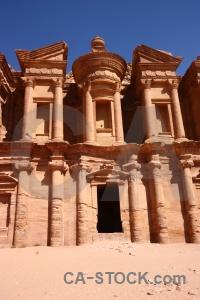 Nabataeans petra historic pillar sky.