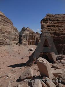 Nabataeans rock pillar asia ad deir.