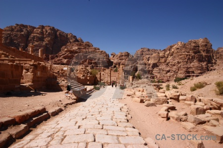 Nabataeans western asia rock petra path.