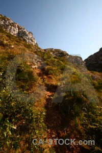Nature javea rock sky bush.