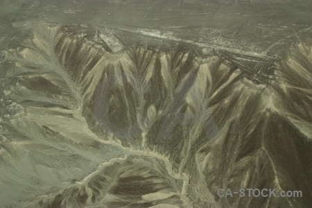 Nazca unesco nazca lines mountain aerial.