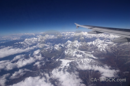 Nepal airplane landscape asia cloud.