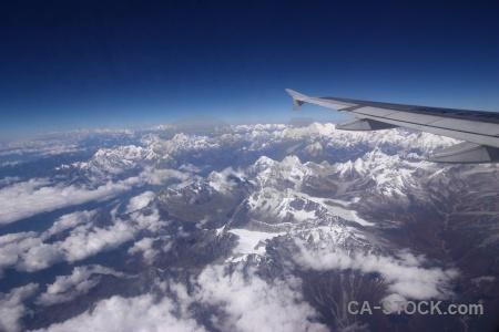 Nepal airplane landscape asia cloud.
