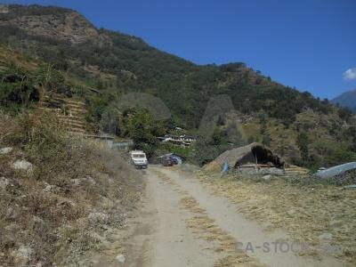 Nepal himalayan van tree building.