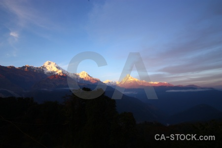 Nepal south asia machapuchre sky landscape.