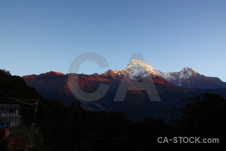 Nepal sunset hiunchuli modi khola valley sky.