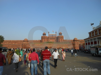 New delhi unesco monument mughal red fort.