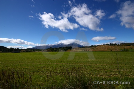 New zealand cloud mountain grass south island.