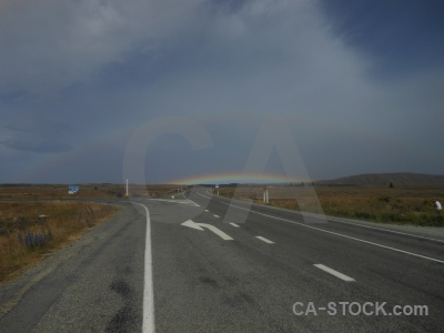 New zealand cloud sky rainbow south island.