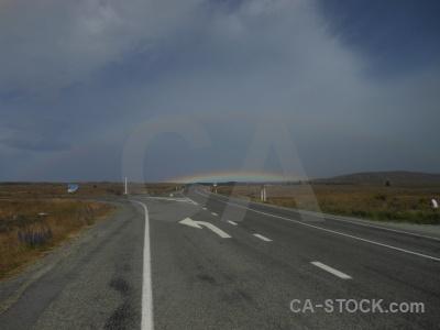 New zealand cloud sky rainbow south island.
