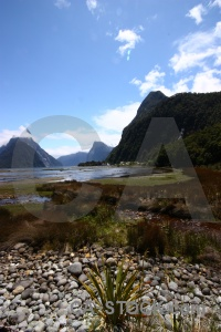 New zealand fiordland sky stone sound.