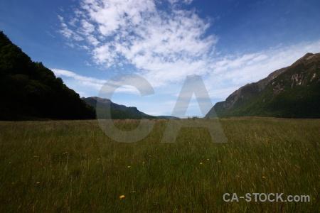 New zealand grass south island mountain sky.
