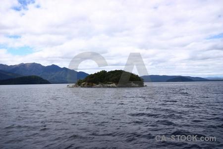 New zealand island lake manapouri sky cloud.
