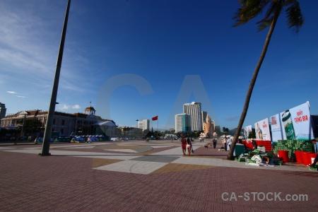 Nha trang flag vietnam sky square.