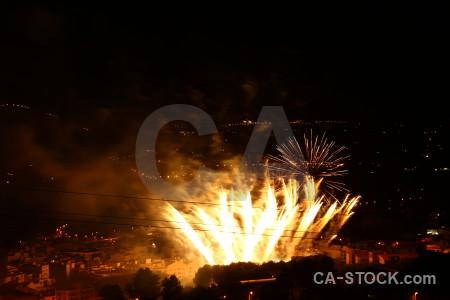 Night firework javea spain europe.