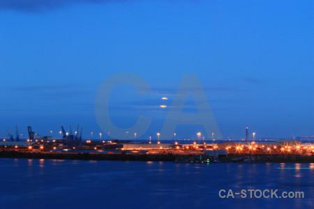 Night landscape blue.