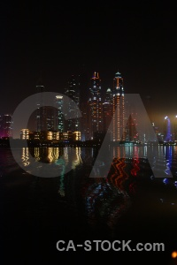 Night reflection asia water western.
