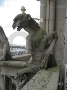 Notre dame france statue paris gargoyle.