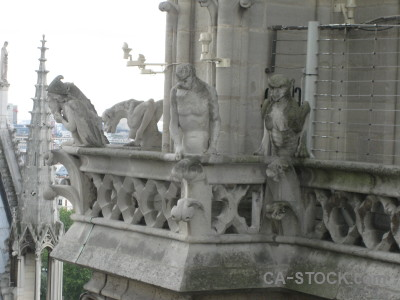Notre dame statue france europe gargoyle.
