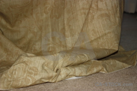 Object brown cloth curtain.