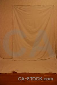 Object cloth orange curtain brown.