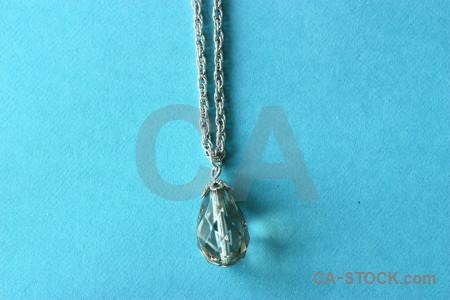 Object cyan jewellry.