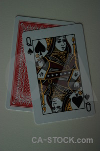 Object playing card red.