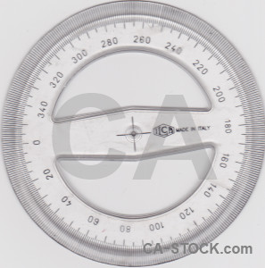 Object protractor scientific white.
