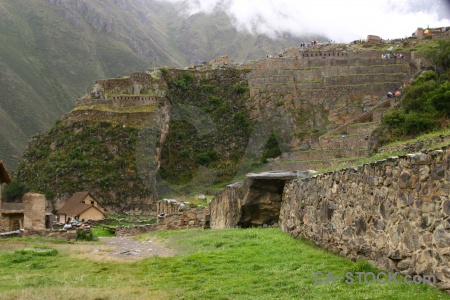 Ollantaytambo cloud sacred valley south america inca.