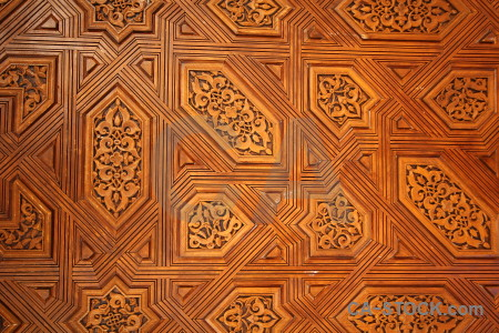 Orange brown la alhambra de granada pattern interior.