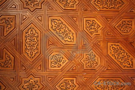 Orange brown la alhambra de granada pattern interior.