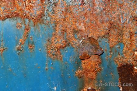 Orange brown texture rust blue.