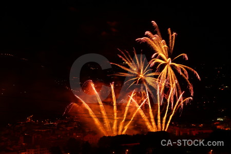 Orange europe firework red night.