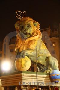 Orange fallas valencia spain statue.