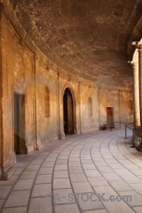 Orange fortress building alhambra roman.