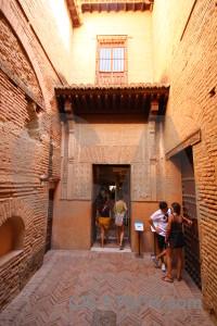 Orange fortress la alhambra de granada palace building.