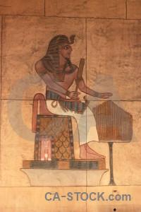 Orange hieroglyph stone brown.