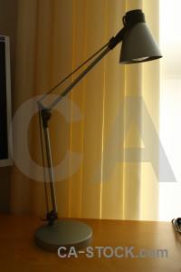 Orange lamp brown object.