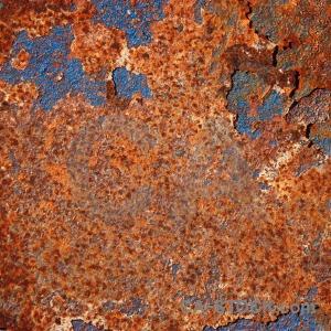 Orange rust texture blue red.